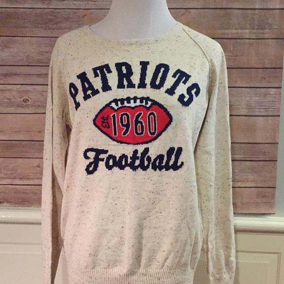 the latest b9f6d 3ac51 New England patriots retro style sweater